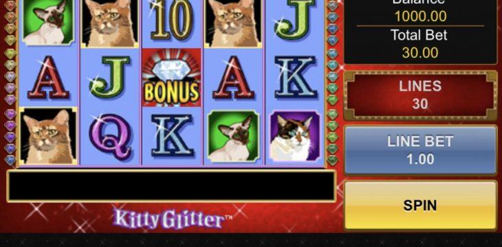 Kitty Glitter เกมสล็อตออนไลน์คุณภาพ ที่มาในธีมของเจ้าแมวน้อย